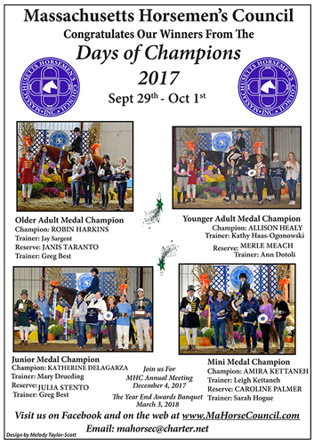 Massachusetts Horsemen's Council Days of Champions Medal Finals