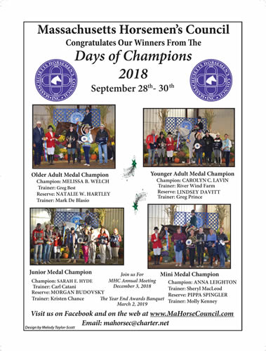 Massachusetts 2018 Days of Champions Medal Finals