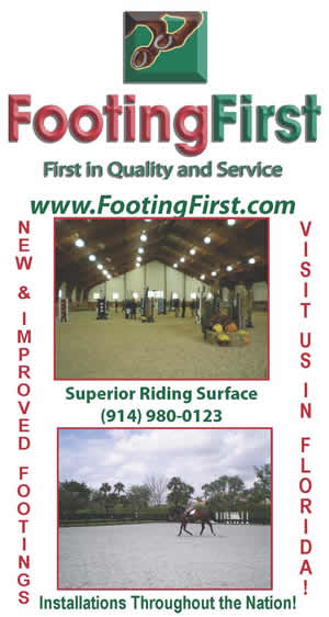 Advertising verticle banner deisgned for Footing First, LLC at the 2009  National Horse Show in NY